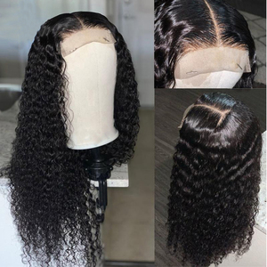 Image 4 - Deep Curly Lace Front Wig Human Hair Wigs For Black Women Deep Wave wig 150% Density Wet And Wavy Water Wave Lace Front Wig