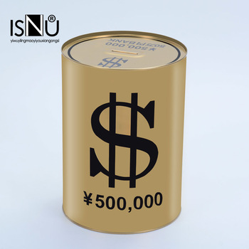Personalized Gold Piggy Bank Large Yen Coin Box Golden Piggy Bank Save Money Box Huchas Salvadanaio Novelty Piggy Bank II50CQG