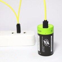 Аккумуляторные батарейки ZNTER 1,5 В 4000 мАч Micro USB, батарея D Lipo LR20 для радиоуправляемой камеры, аксессуары для дрона, бесплатная доставка