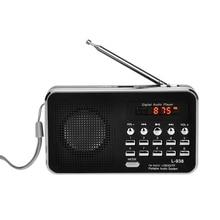 New L 938 Mini Portatile Radio Fm Digitale 3W Potenza di Uscita/1.5 Pollici Schermo di Visualizzazione/Supporto Usb Drive/ tf/Sd/Mmc Card/Au