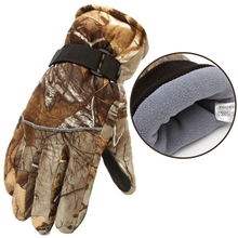 Plus Velvet Thick Winter Skiing Gloves 3D Camouflage Unisex Fishing Hunting Fleece Waterproof Hiking Snowboard