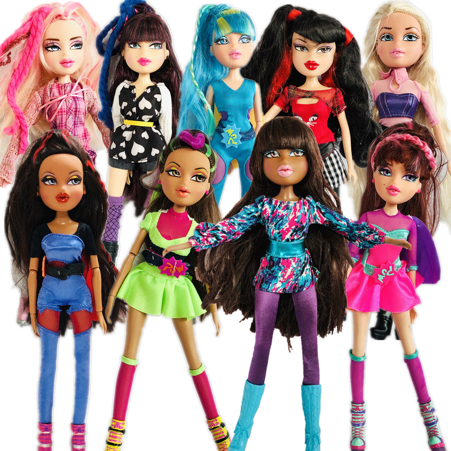 New 28cm Original Fashion Action Figure Original BratzDoll Blonde Hair Black Skin Girl Doll Best Gift For Child