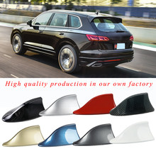 Car Antennas Shark Fin Antenna Auto Radio Signal Aerials Roof Antennas for Renault Nissan Opel Ford Hyundai Car Styling(China)