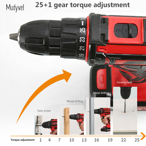 Image 4 - Cordless Drill Mini 12V 16.8V 21V Rechargeable Power Tools 2 speed Flexible Shaft Cordless Screwdriver Electric