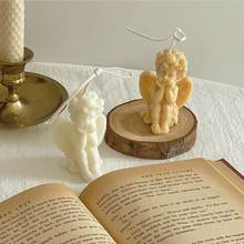 angel wedding birthday gift candle home decorations wax candles