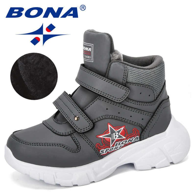 BONA 2019 New Designer Kids Snow Boots