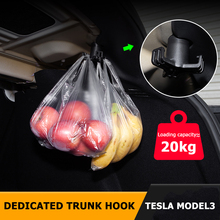 Hook Tidying-Accessories Tesla-Model Trunk Grocery-Bag for Car Stowing 20KG Load-Bearing