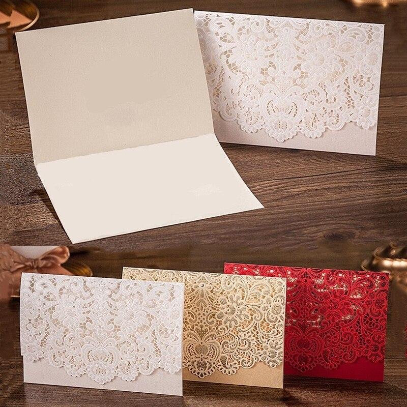 50пцс Рустикална свадбена помагала Кина црвено бела луксузна елегантна златна ласерска рез за позивницу за венчање са прилагођеним