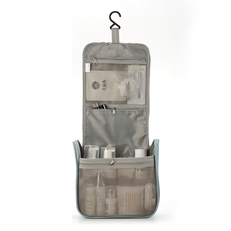 Travel Storage Cosmetic Bag Waterproof Bathroom Convenient Toiletries Large Capacity Set Multi-layer Zipper Hook Package New