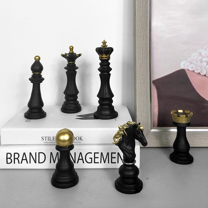 Resin Chess Figurines Home Decoration Accessories International Chess Statue Just6F