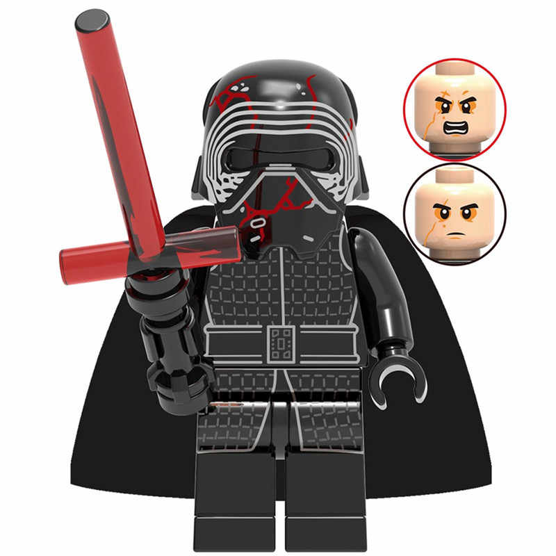 Star Wars Yoda Darth Vader Luke Leia Anakin Obiwan Han Solo Rey Jar Jar Star Wars Set Building Blocks Figure giocattoli per I Bambini