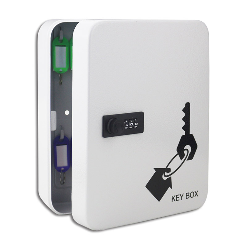 28-bit Key Cabinet Security Management Box Wall-mounted Password Lock Key Storage Box With Key Card (For 7.5-12cm Length Keys)