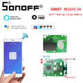 Интеллектуальный выключатель света SONOFF RE5V1C Смарт Беспроводной переключатель автофиксацией/шаговым управлением/самоблокирующийся прилож...