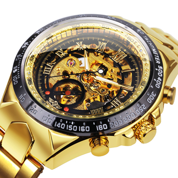 Skeleton Watch For Men Automatic Watches Mens 2020 Top Luxury Brand Gold Stainless Steel Big Dial Relogio Dropshipping Hot - discount item  82% OFF Men's Watches