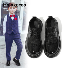 Spring Kids Pu Leather Shoes Baby Girls Black Brand Shoes Ch