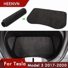 Heenvn-esteras frontales para maletero de coche, accesorios para modelo Tesla 3, tapete de almacenamiento frontal, bandeja de carga, almohadillas protectoras, 2020