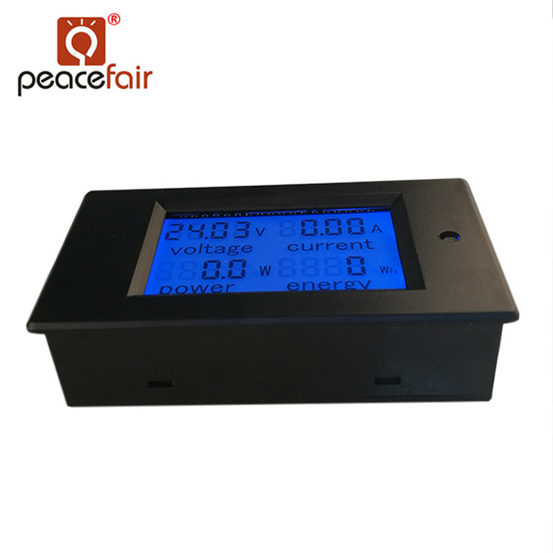 DC Digital Panel Voltmeter Ampermeter 6.5-100V 100A 4 IN1 LCD Power Energy Current Watt Meter Without Shunt
