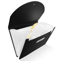 Органайзер для файлов, папок, сверхмощный расширяющийся файловый кошелек для домашнего офиса школы, размер А4, черный