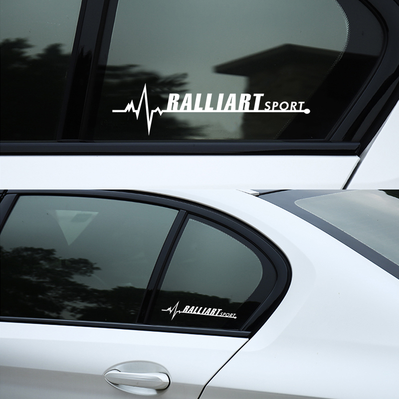 3D Vinyl Ralliart Emblem Car <font><b>Stickers</b></font> Side Window Decor Decals For Mitsubishi <font><b>Lancer</b></font> 9 <font><b>10</b></font> Asx Outlander 3 Pajero Sport L200 image