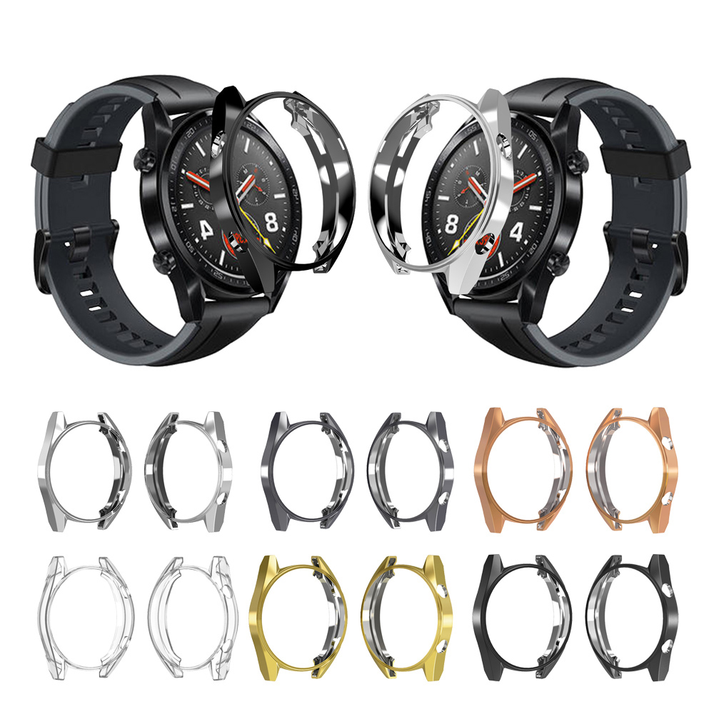 Protective Case Cover For Huawei Watch GT GT Active Watch Case TPU Slim Frame AntiScratch Shell For Gt 46mm Smart Watch Case
