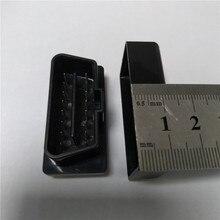 10 pçs elm327 preto caso obd2/obdii elm 327 preto caso apenas o caso frete grátis
