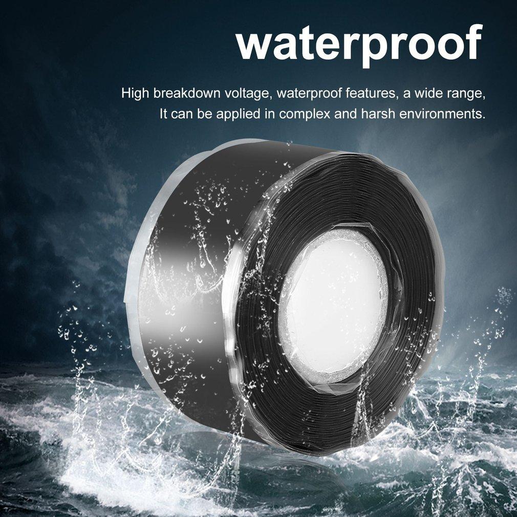 1.5/3M Multi-Purpose Self-Adhesive Strong Black Rubber Silicone Repair Waterproof Bonding Tape Rescue Self Fusing Wire