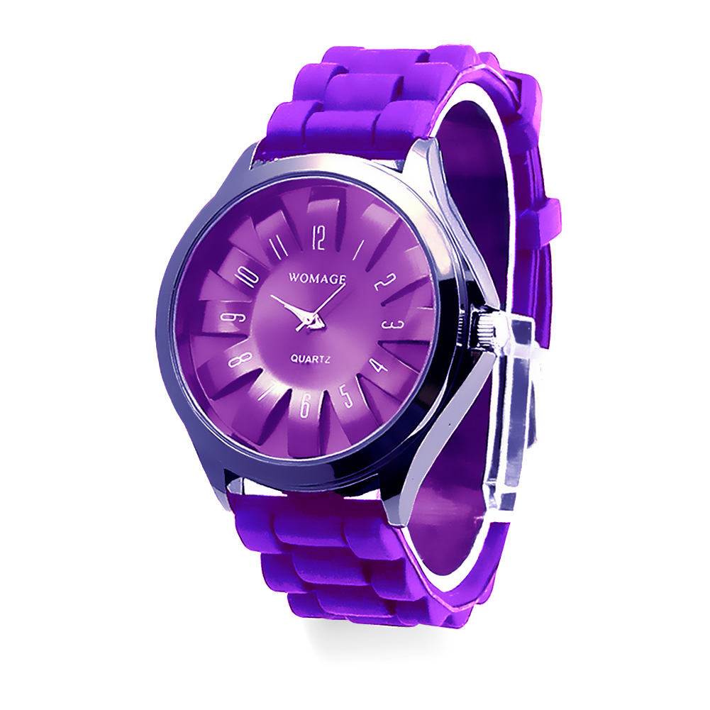 Casual Silicone Clock Jelly Band Flower Dial Sports Style Watch Men Women Quartz Wrist Watch Ladies Dress Watches Gift Luxury