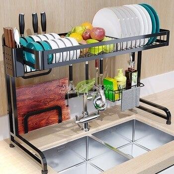 38% Â�ッチンシンクスポンジホルダー強力な支持力プレートラックキッチン食器ドライヤー壁フックポットとパン収納棚