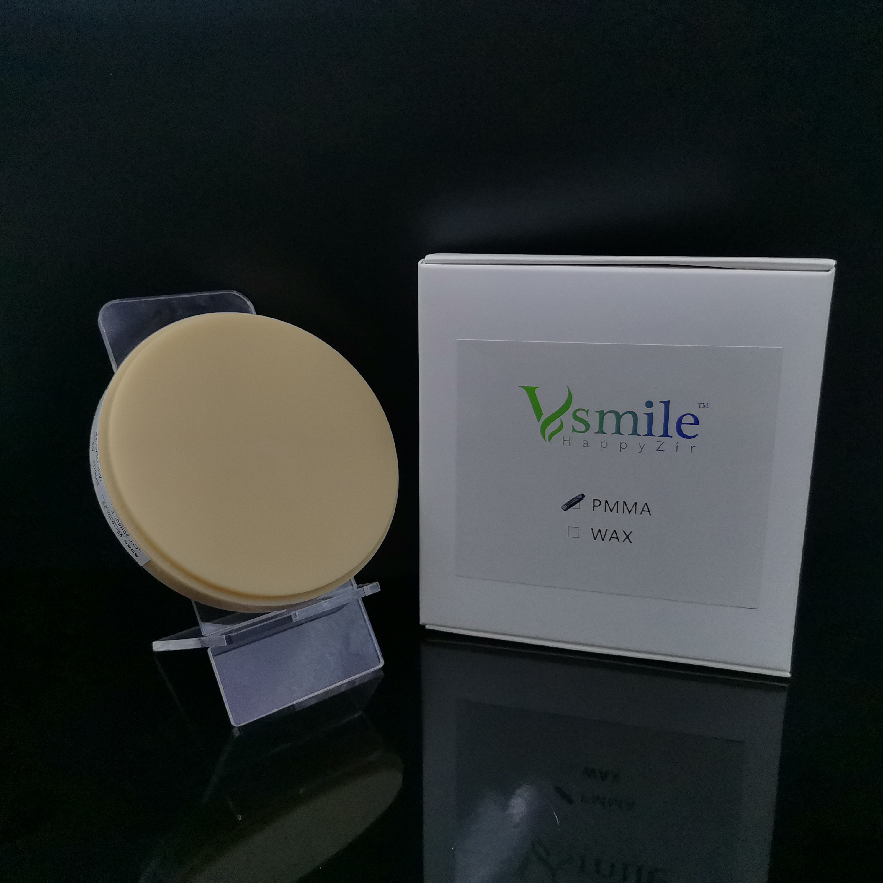 o disco acrilico dental de pmma 98mm multicamadas hibrido pmma blank vita 16 tonalidades para o