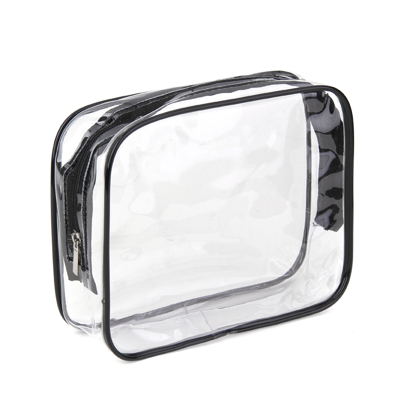 Environmental Protection PVC Transparent Cosmetic Bag Women Travel Make Up Toiletry Bags Makeup Organizer Case