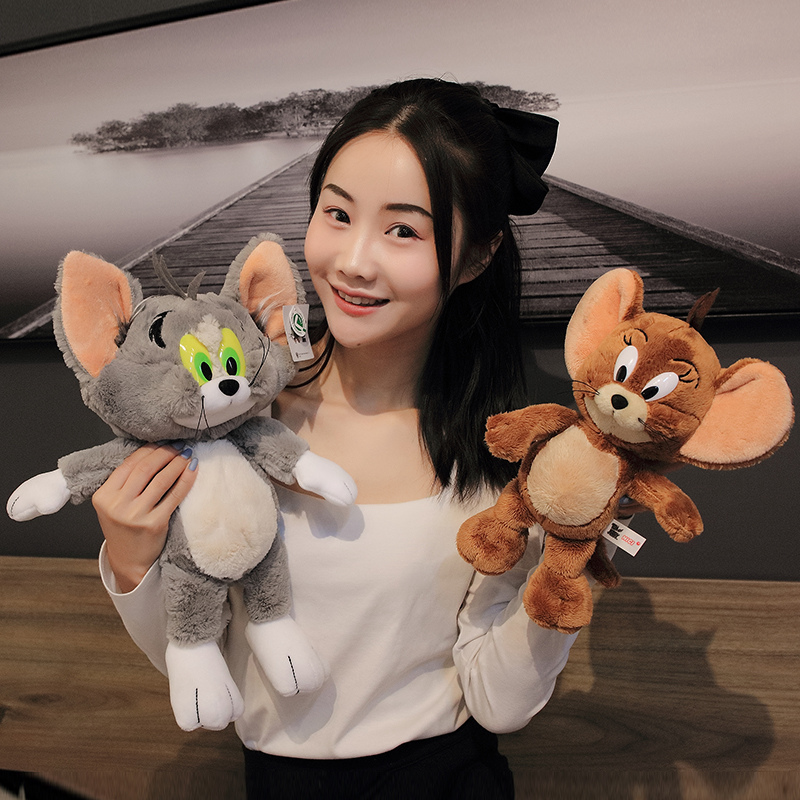1 Pcs Dropshipping 28-40cm Cat  Mouse Plush Toy Dolls Cute Stuffed Animals Kids Collection Soft Toys Christmas Gift