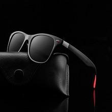 Новинка, Классические поляризованные солнцезащитные очки для мужчин и женщин, солнцезащитные очки с квадратной оправой для вождения, мужские очки, UV400, очки для вождения