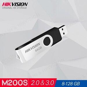 Hikvision HikStorage USB Flash Drive 8GB 16GB 32GB 64GB Mini Pen Drive USB2.0 USB3.0 Pendrive Memory Stick Storage #M200S