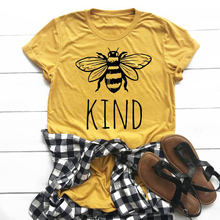 Bee Kind T-Shirt be kind tshirt cotton tops women funny grap