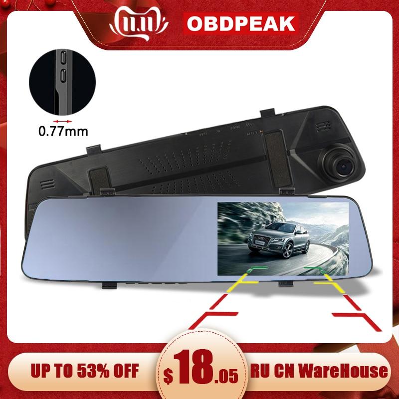 Car Dvr Camera 4.39 Inch Rearview Mirror HD 1080P Car Mirror Video Recorder With Rear View Camera Car Screen Mirror Dash Camera