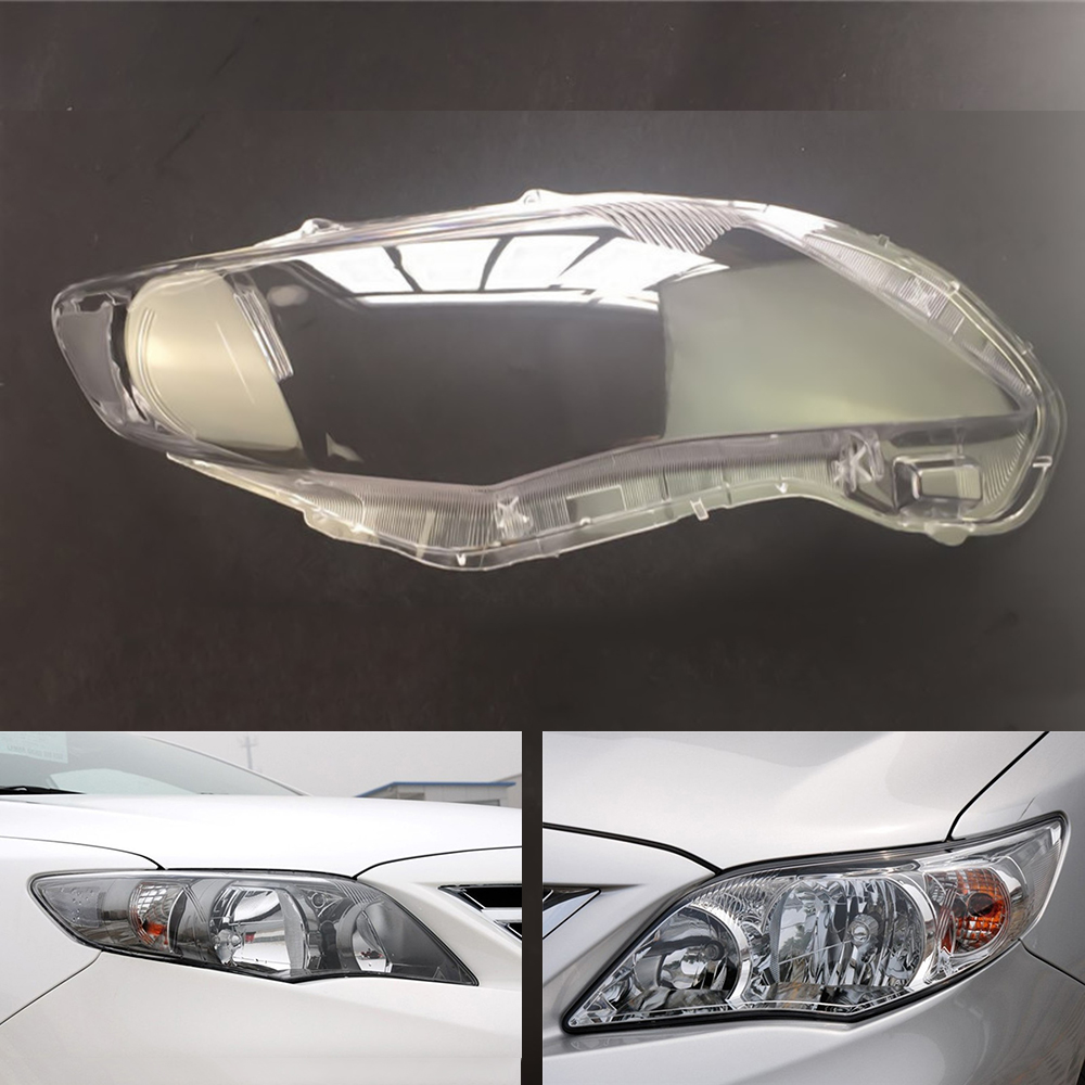 Car Headlamp Lens For Toyota Corolla 2011 2012 2013  Car  Replacement   Auto Shell Cover