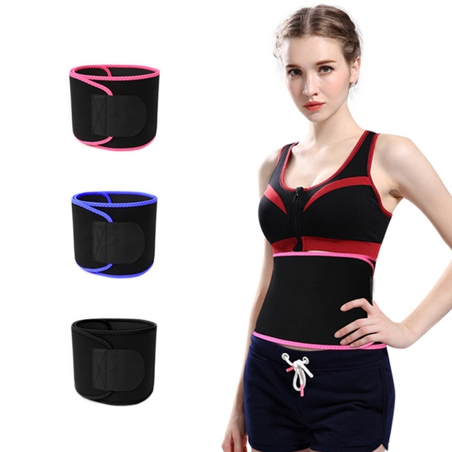 Waist Trimmer Belt Weight Loss Sweat Band Wrap Fat Tummy Stomach Sauna Sweat Belt Sport Belt v 2