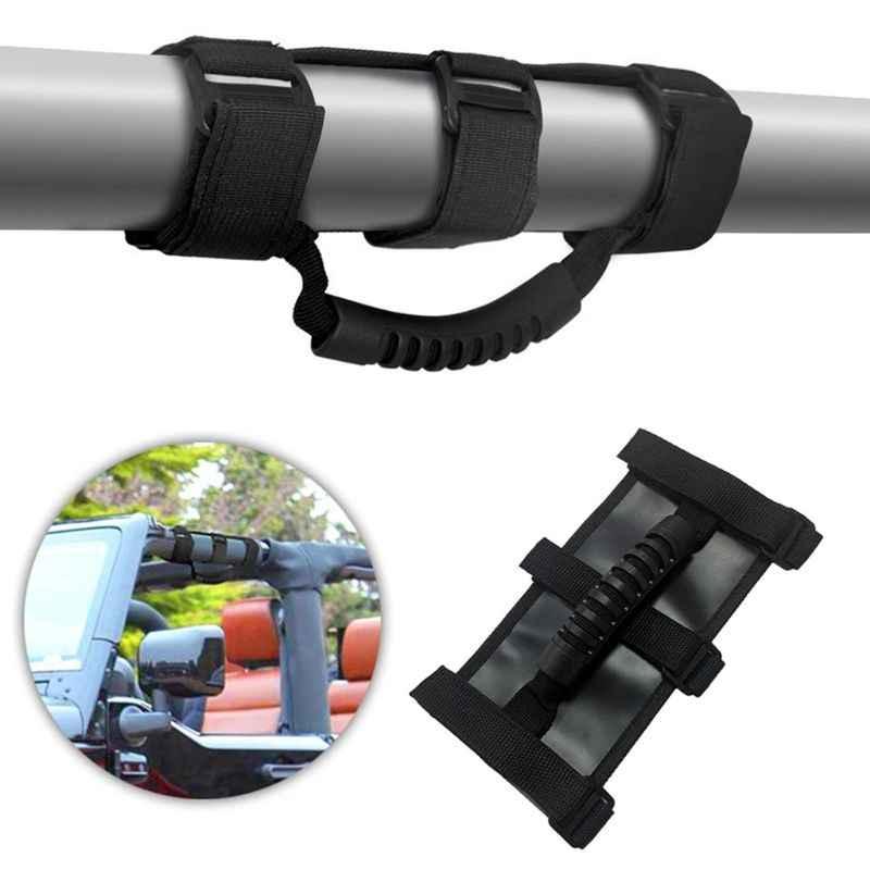 Novo 1 pc barra de rolo do carro veículo pega alças preto/vermelho para jeep wrangler cj yj tj jk carro automóvel exterior peças acessórios