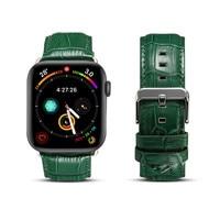 Für Apple Iwatch Leder Band Aus Echtem Leder Armband Für Apple Uhr 1/2/3/4 Krokodil Muster Leder Band Für Iwatch