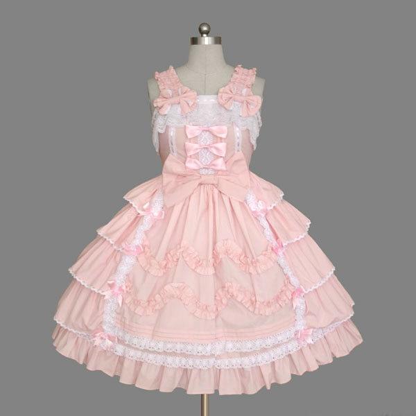 Gothique palace douce lolita robe vintage dentelle bowknot robe de bal victorienne robe kawaii fille gothique lolita jsk loli cosplay