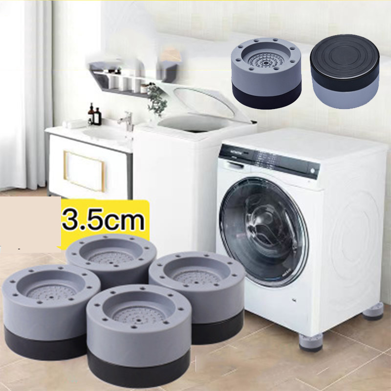 Anti Vibration Washer Feet Pad Universal Washing Machine Anti-Skid Roller Kit Furniture Lifting Foot Base-0