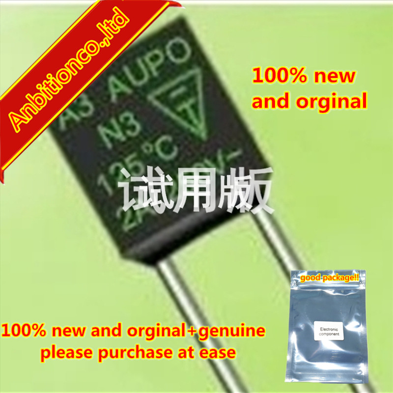 10pcs 100% New And Orginal 10A 250V 115 Thermal Cutoff, Black In Stock