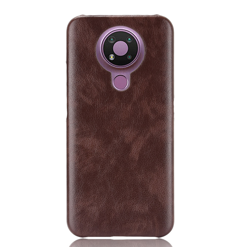 Litchi Leather Pattern PU Case Back Cover For Nokia 2.4 3.4 5.4 Ultra Thin Hard PC Phone Cases
