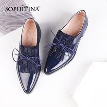 Женские туфли из лакированной кожи sophitina удобная пикантная
