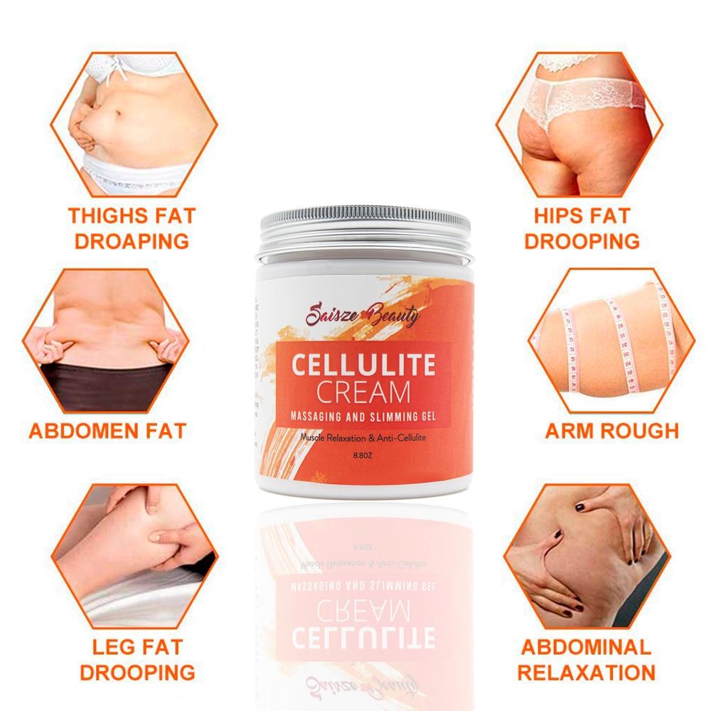 250g Drop shipping Cellulite Slimming Cream Hot Massage Leg Skin Relax Cream Adipose Massage Weight Burning Loss 5
