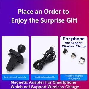 Image 5 - Chargeur de voiture sans fil rapide 15W pour iPhone 11 XS XR X 8 7 Samsung S20 S10 Qi capteur automatique magnétique USB pour Xiaomi Redmi Huawei