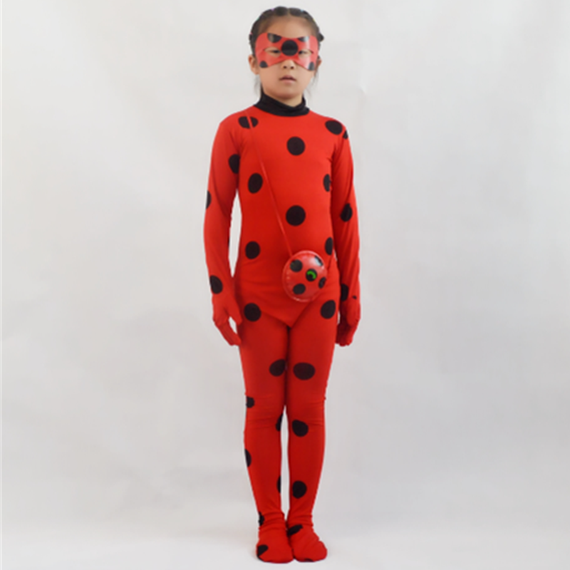 Ladybug Costume For Girls, Clothing Set Cosplay For Girls Suit Beetle For Girls