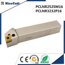PCLNR2525M16/PCLNR3232P16 External Turning Tool Holder CNC Tool Cutter Blade Lathe Cutters For Free Shipping Nicecutt цена 2017