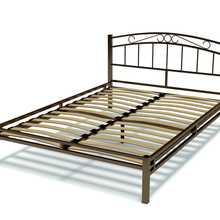 Кровать Виола металлическая 1.4 (Венге (сталь), Сталь, Венге (сталь), 1400х2000 мм) ГайваМебель