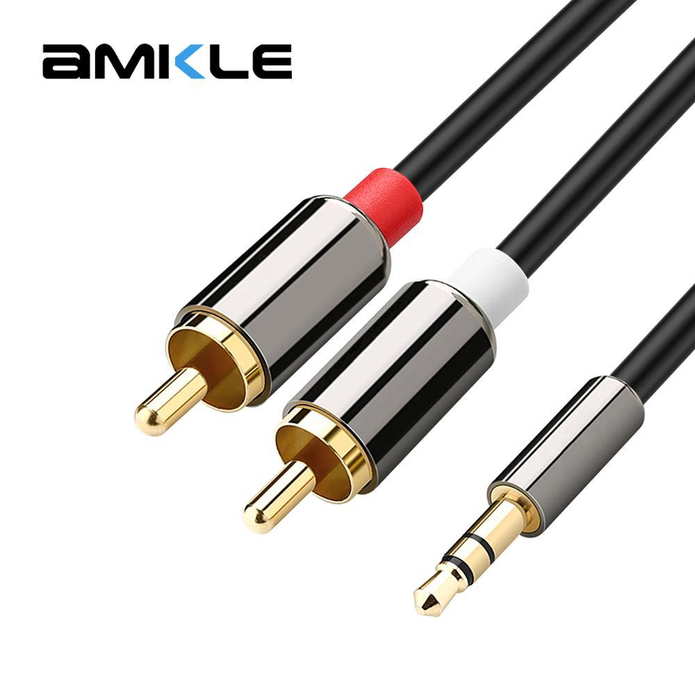 AMKLE AUX Cable Jack 3.5mm Audio Cable 3.5 Mm Jack Speaker Cable For JB L Headphones Car Xiaomi Redmi 5 Plus Oneplus 5t AUX Cord